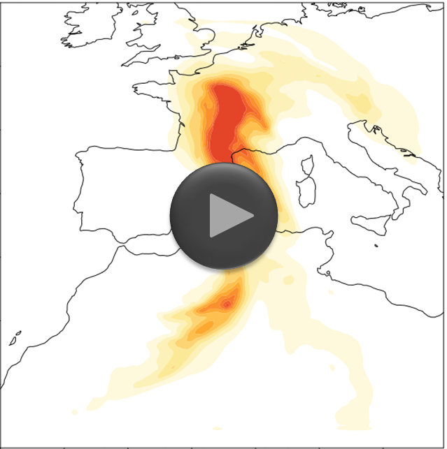 Dispersion of Saharan dust (DWD/KIT)